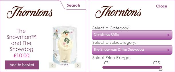 Thorntons Christmas Widgets